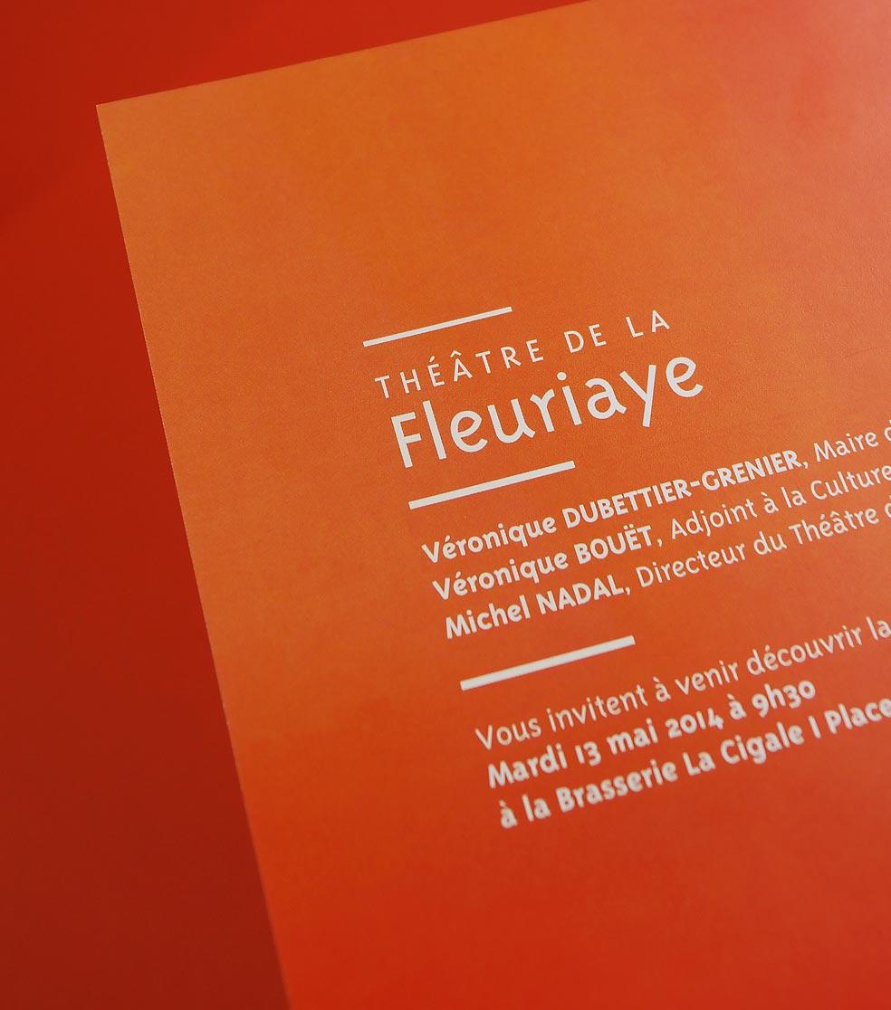 Création affiche théâtre de la Fleuriaye