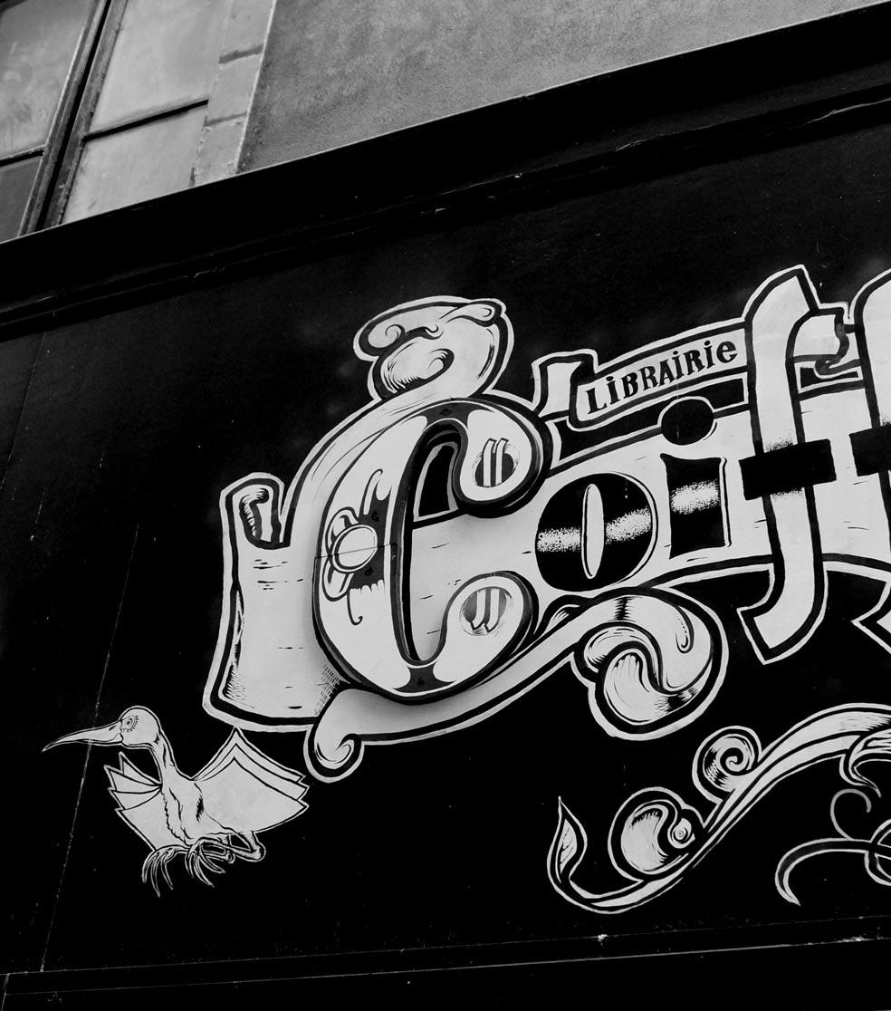 Identité visuelle Librairie Coiffard