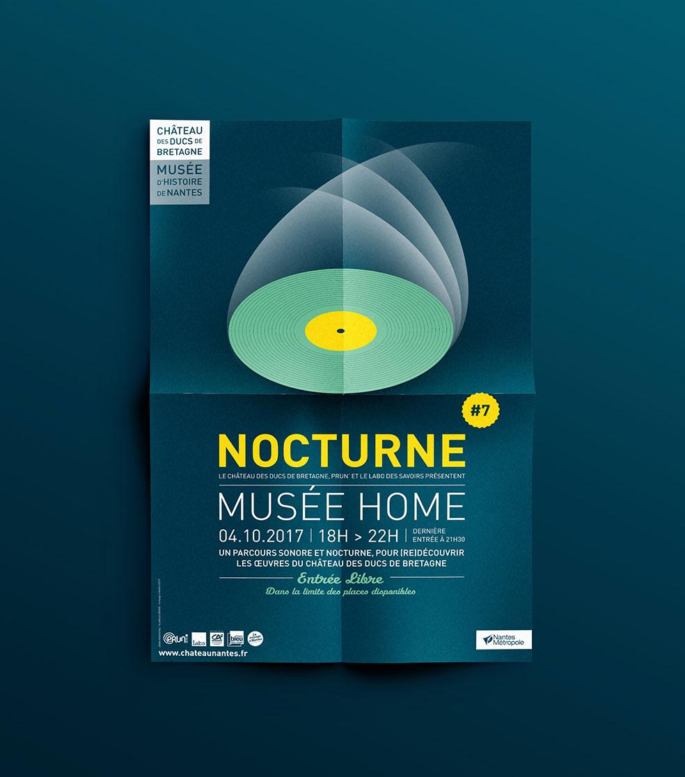 Affiches Nocturnes Château des ducs de Bretagne