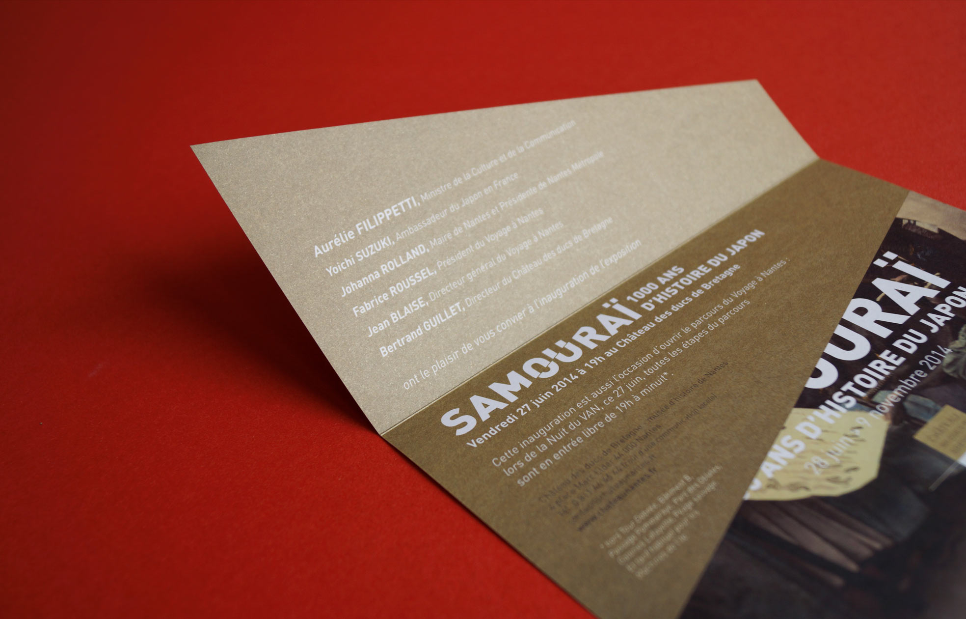 Création affiche Exposition Samourai chateau nantes