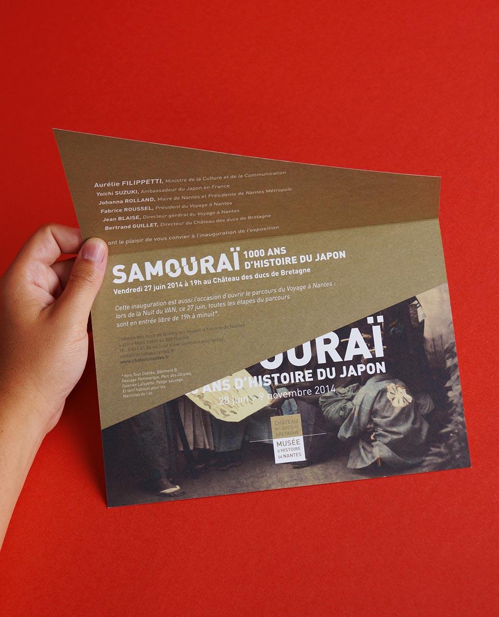 Communication Exposition Samourai chateau nantes